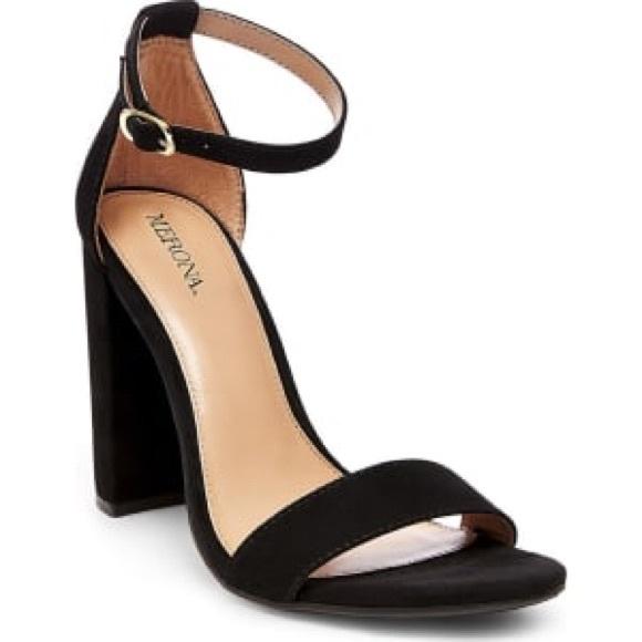 98010c64203 Merona Lulu Block Heel Sandals - Black Sz 7